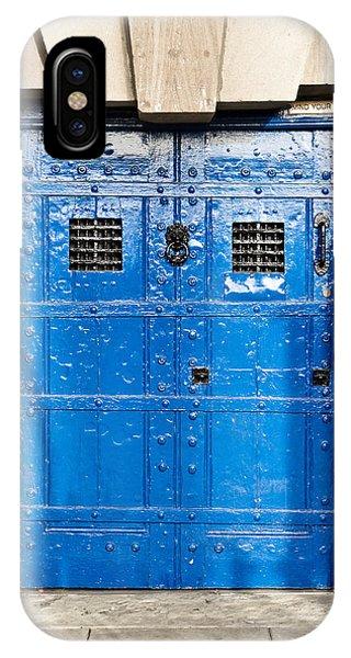 Dungeon iPhone Case - Old Blue Door by Tom Gowanlock