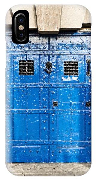 Dungeon iPhone X / XS Case - Old Blue Door by Tom Gowanlock