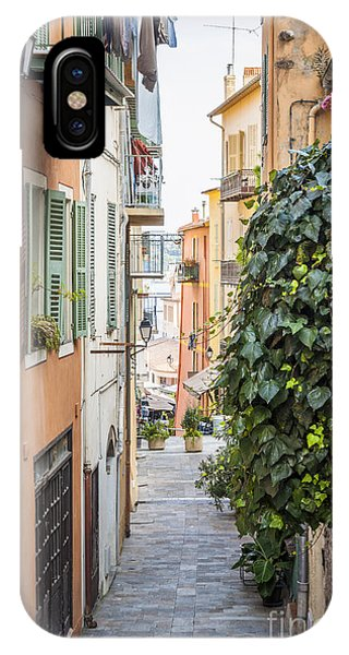 French Riviera iPhone Case - Old Street In Villefranche-sur-mer by Elena Elisseeva
