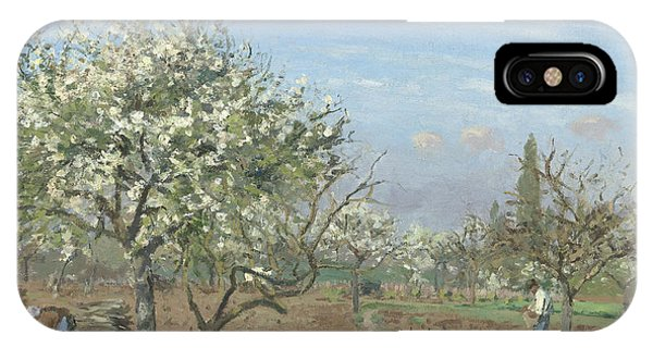 Plowing iPhone Case - Orchard In Bloom by Camille Pissarro
