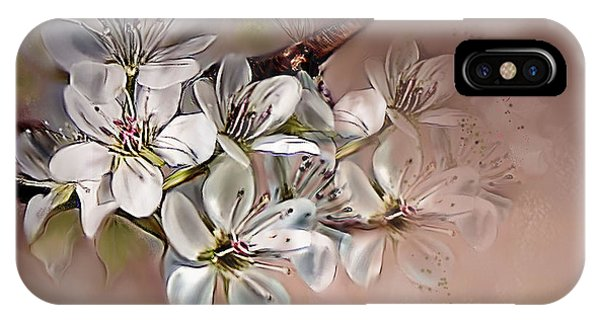 Oriental Pear Blossom IPhone Case