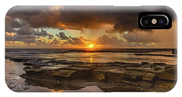 Overcast And Cloudy Sunrise Seascape IPhone Case