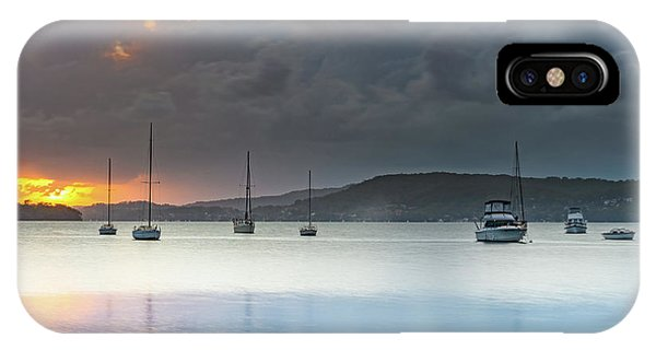 Overcast Sunrise Waterscape IPhone Case