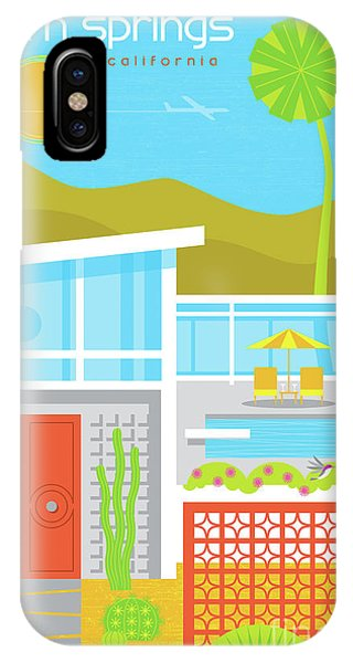 1960s iPhone Case - Palm Springs Poster - Retro Travel  by Jim Zahniser