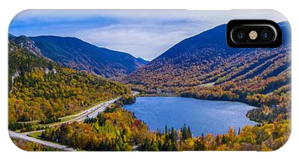 Panoramic View Of Franconia Notch. IPhone Case