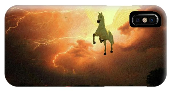 Pegasus By Mary Bassett IPhone Case