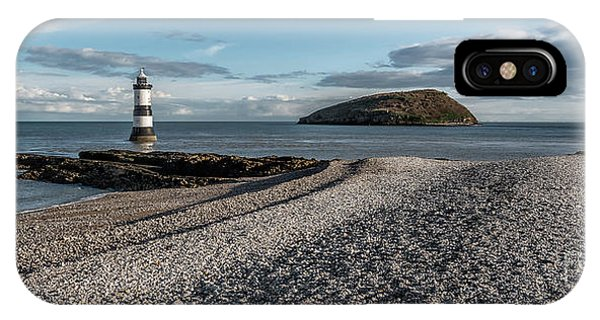 Navigation iPhone Case - Penmon Point Lighthouse by Adrian Evans