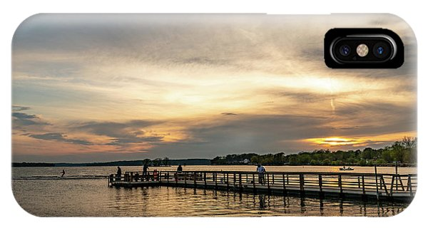 Water Ski iPhone Case - Pewaukee Lake Sunset by Randy Scherkenbach