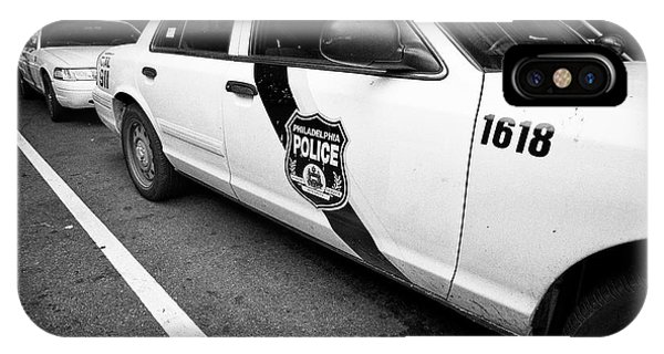 Philadelphia Police Ford Crown Vic Cruiser Patrol Car Vehicle Usa IPhone Case