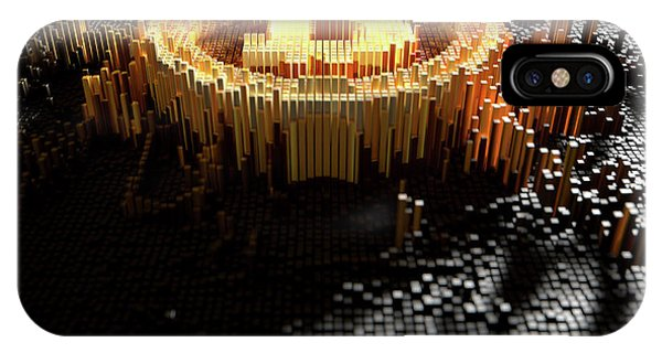 Virtual iPhone Case - Pixel Bitcoin Concept by Allan Swart