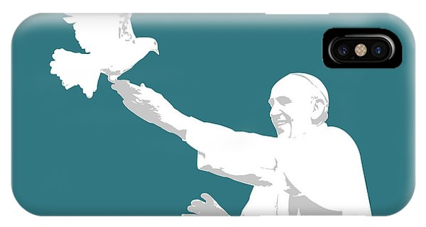 Dove iPhone Case - Pope Francis by Greg Joens