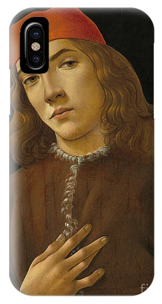 Botticelli iPhone Case - Portrait Of A Youth by Sandro Botticelli