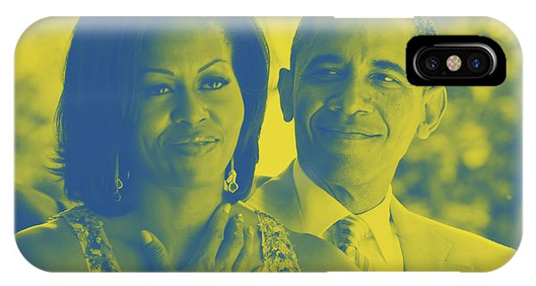 Portrait Of Barack And Michelle Obama IPhone Case