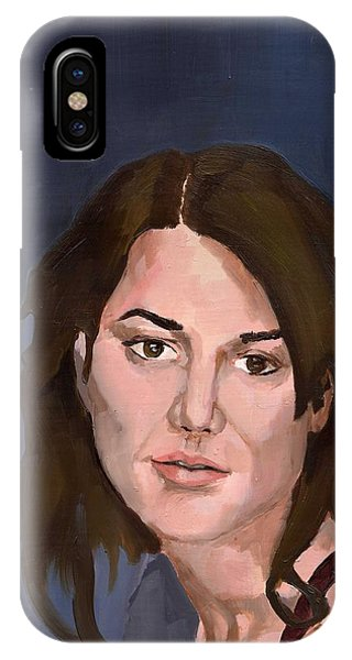 IPhone Case featuring the painting Portrait by Stephen Panoushek
