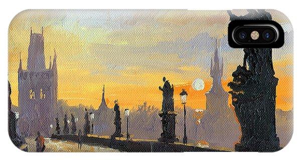 Prague Charles Bridge 01 IPhone Case