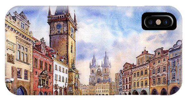 Oil iPhone Case - Prague Old Town Square by Yuriy Shevchuk
