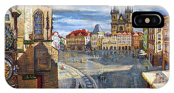 Town iPhone Case - Prague Old Town Squere by Yuriy Shevchuk