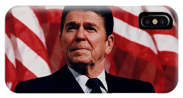 Hero iPhone Case - President Ronald Reagan by War Is Hell Store