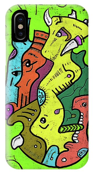 Psychedelic Animals IPhone Case