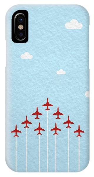Jet iPhone Case - Raf Red Arrows In Formation by Samuel Whitton