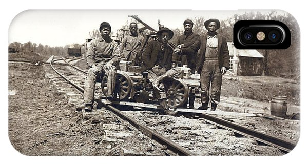 Trolley Car iPhone Case - Railroad Workers by Underwood Archives