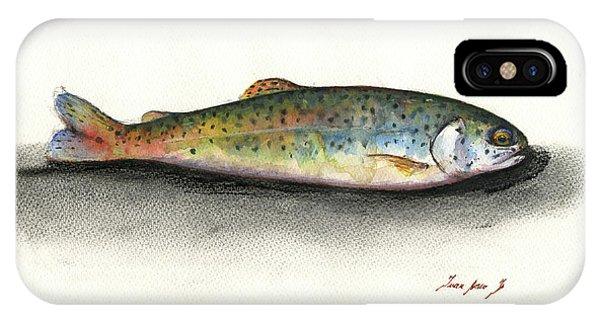 Trout iPhone Case - Rainbow Trout by Juan Bosco
