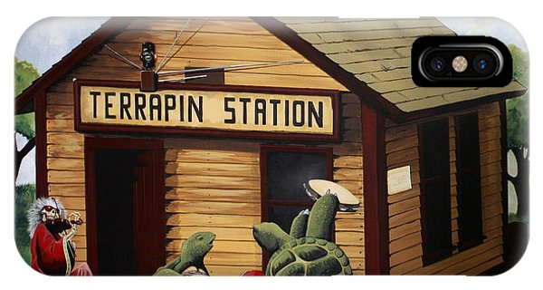 Trains iPhone Case - Recreation Of Terrapin Station Album Cover By The Grateful Dead by Ben Jackson