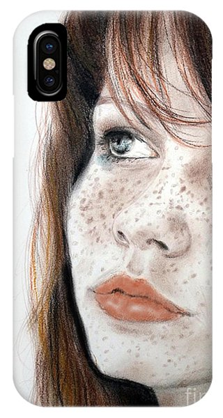 Red Hair And Freckled Beauty IPhone Case