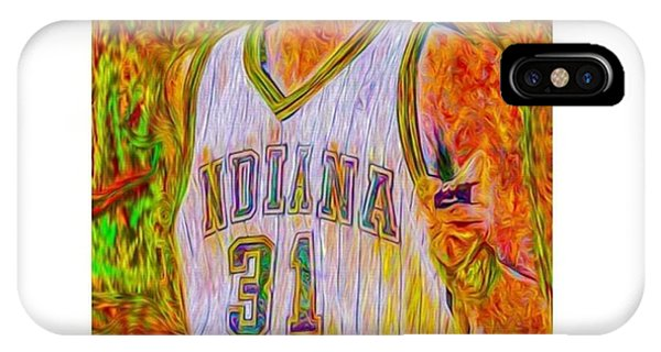 Fineart iPhone Case - Reggie Miller. Ucla. Indiana Pacers by David Haskett II
