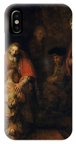 iPhone Case - Return Of The Prodigal Son by Rembrandt Van Rijn