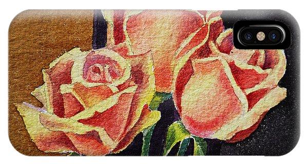 Hyper Realism iPhone Case - Roses   by Irina Sztukowski