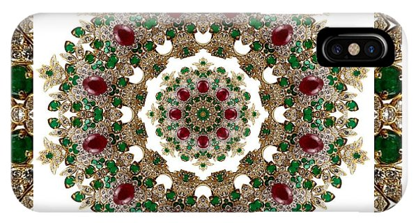 Ruby And Emerald Kaleidoscope IPhone Case