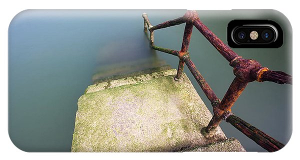 Rusty Handrail Going Down On Water IPhone Case