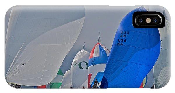 San Francisco Bay Sailboat Racing IPhone Case