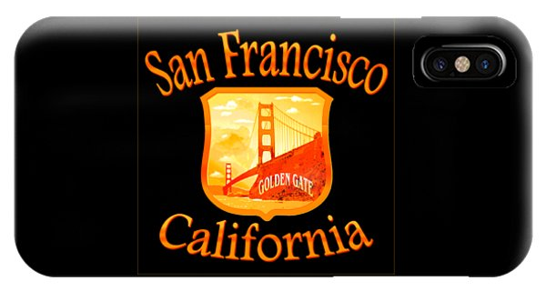 Sports Clothing iPhone Case - San Francisco California Golden Gate Design by Peter Potter