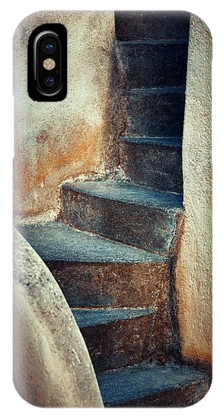 Santorini Island Stairs Phone Case by Songquan Deng