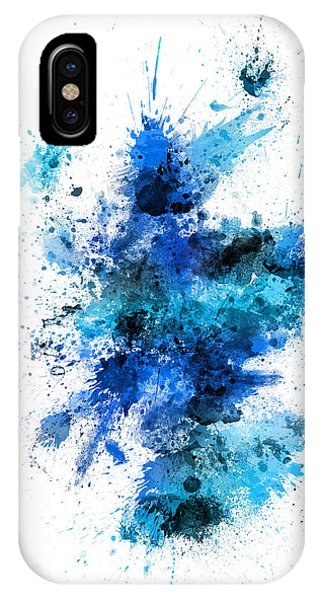 Print iPhone Case - Scotland Paint Splashes Map by Michael Tompsett
