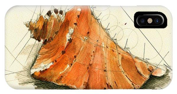 Nautical iPhone Case - Seashell Art Painting by Juan  Bosco