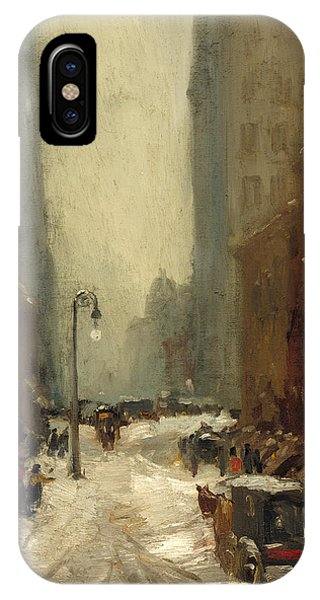 iPhone Case - Snow In New York by Robert Henri