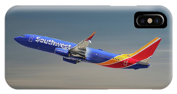 Airline iPhone Case - Southwest Airlines Boeing 737-8h4 by Smart Aviation