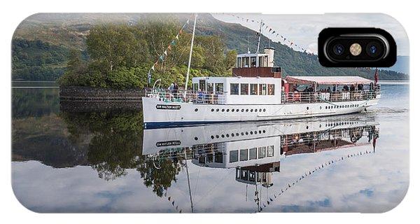 Steamship Sir Walter Scott On Loch Katrine IPhone Case