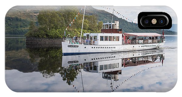 Steamship Sir Walter Scott On Loch Katrine IPhone Case