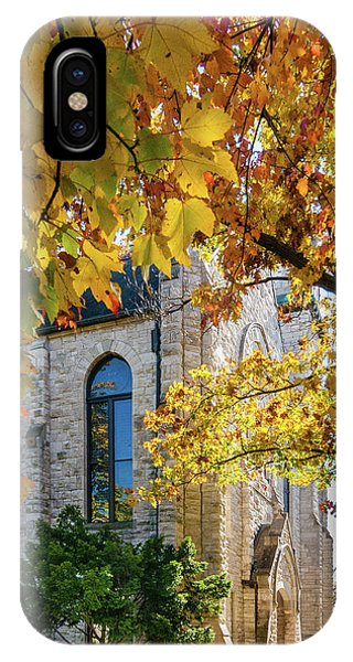IPhone Case featuring the photograph Stone Chapel Fall by Allin Sorenson