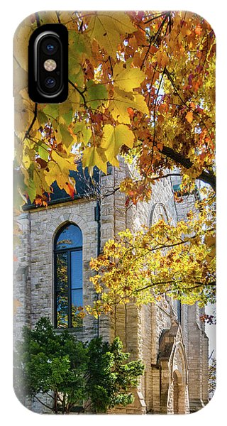 Stone Chapel Fall IPhone Case