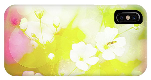 Summer Flowers, Baby's Breath, Digital Art IPhone Case