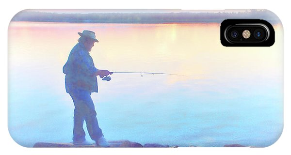 Sunrise Fisherman IPhone Case