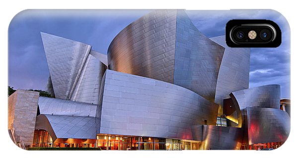 Architecture iPhone Case - Sunset At The Walt Disney Concert Hall In Downtown Los Angeles. by Jamie Pham
