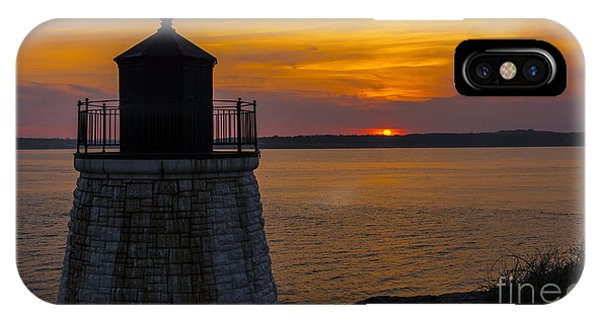 Sunset From Castle Hill Lighthouse. IPhone Case