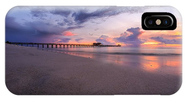 Sunset Naples Pier Florida IPhone Case