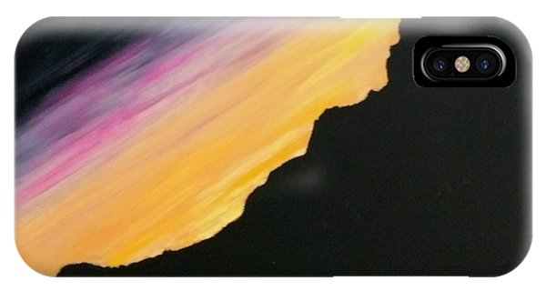 IPhone Case featuring the painting Sunset Silhouette by Kevin Daly